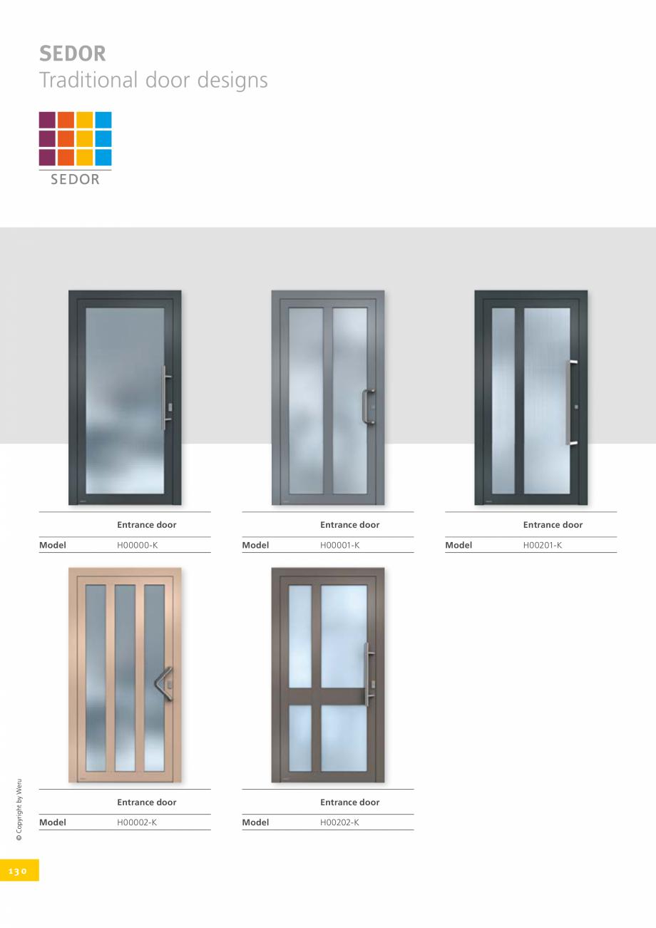 Pagina 130 - Catalog general - Usi de exterior din aluminiu WERU Catalog, brosura Engleza