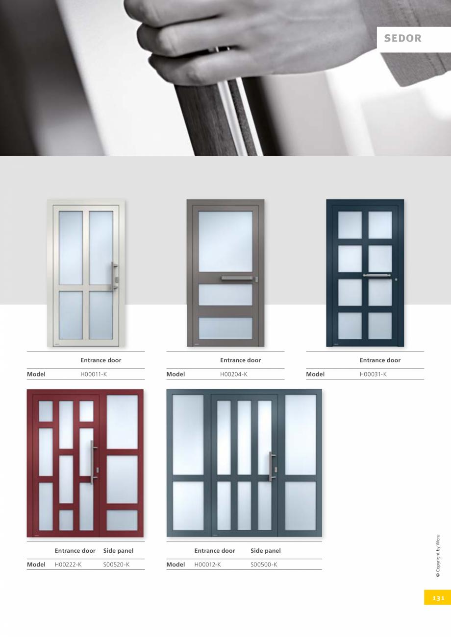 Pagina 131 - Catalog general - Usi de exterior din aluminiu WERU Catalog, brosura Engleza