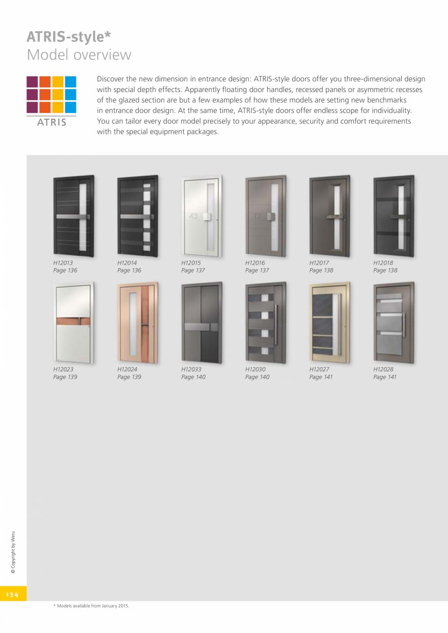 Pagina 134 - Catalog general - Usi de exterior din aluminiu WERU Catalog, brosura Engleza