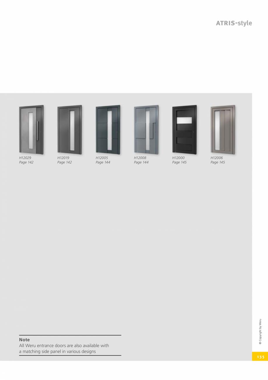 Pagina 135 - Catalog general - Usi de exterior din aluminiu WERU Catalog, brosura Engleza