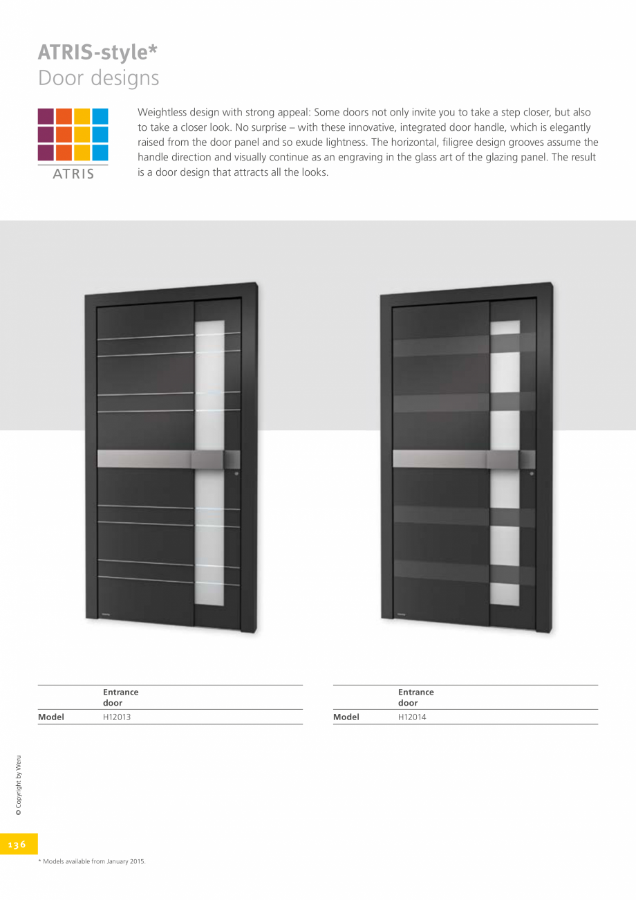 Pagina 136 - Catalog general - Usi de exterior din aluminiu WERU Catalog, brosura Engleza