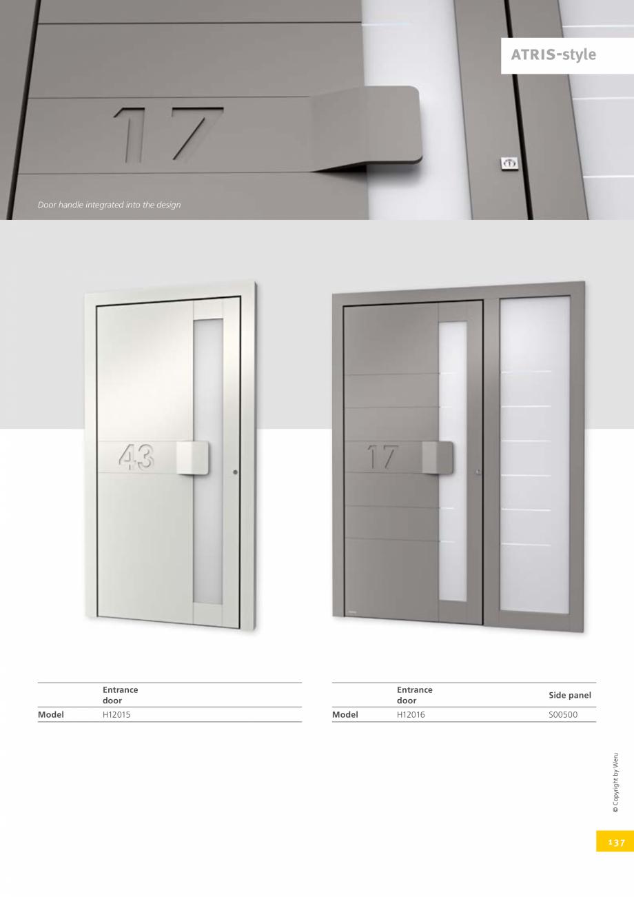 Pagina 137 - Catalog general - Usi de exterior din aluminiu WERU Catalog, brosura Engleza