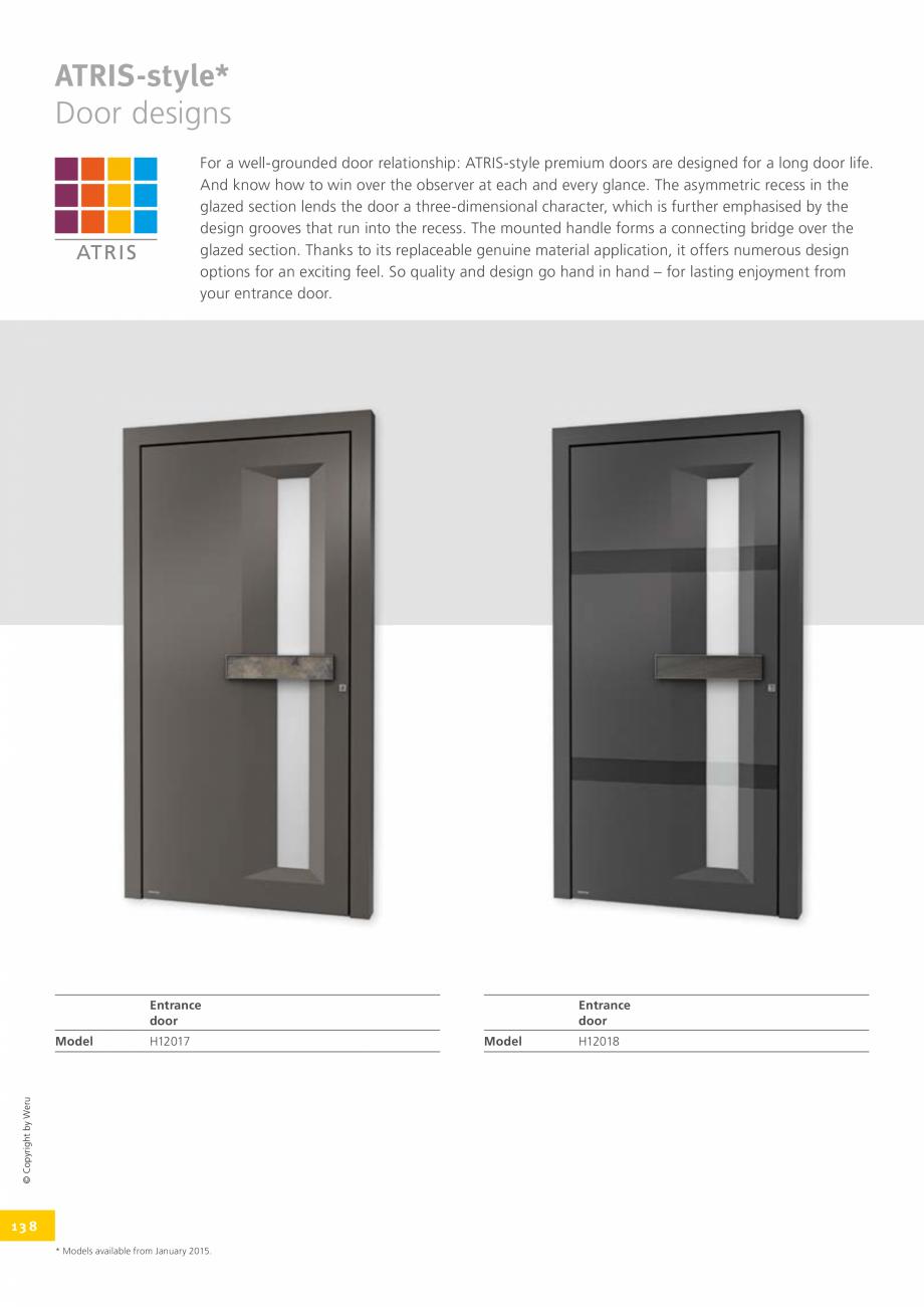Pagina 138 - Catalog general - Usi de exterior din aluminiu WERU Catalog, brosura Engleza