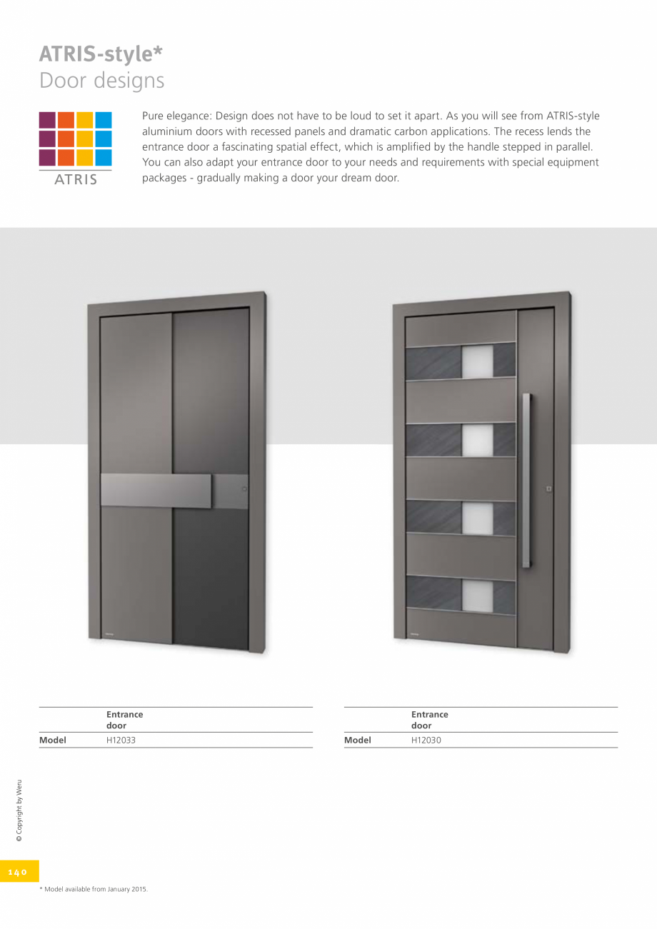 Pagina 140 - Catalog general - Usi de exterior din aluminiu WERU Catalog, brosura Engleza