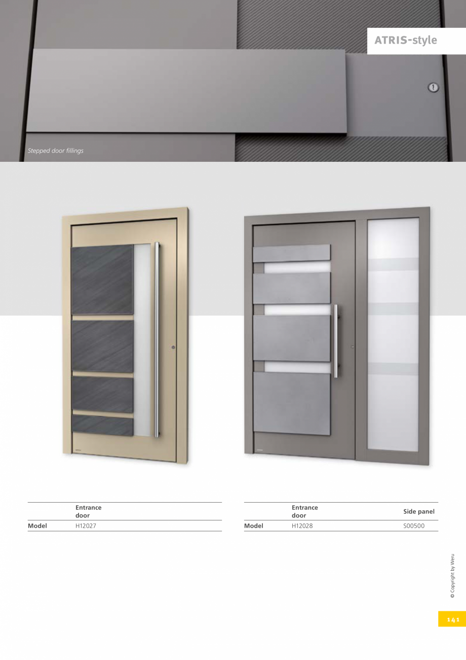 Pagina 141 - Catalog general - Usi de exterior din aluminiu WERU Catalog, brosura Engleza