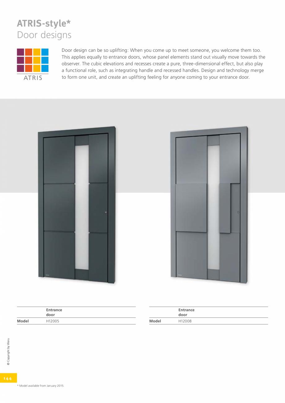 Pagina 144 - Catalog general - Usi de exterior din aluminiu WERU Catalog, brosura Engleza