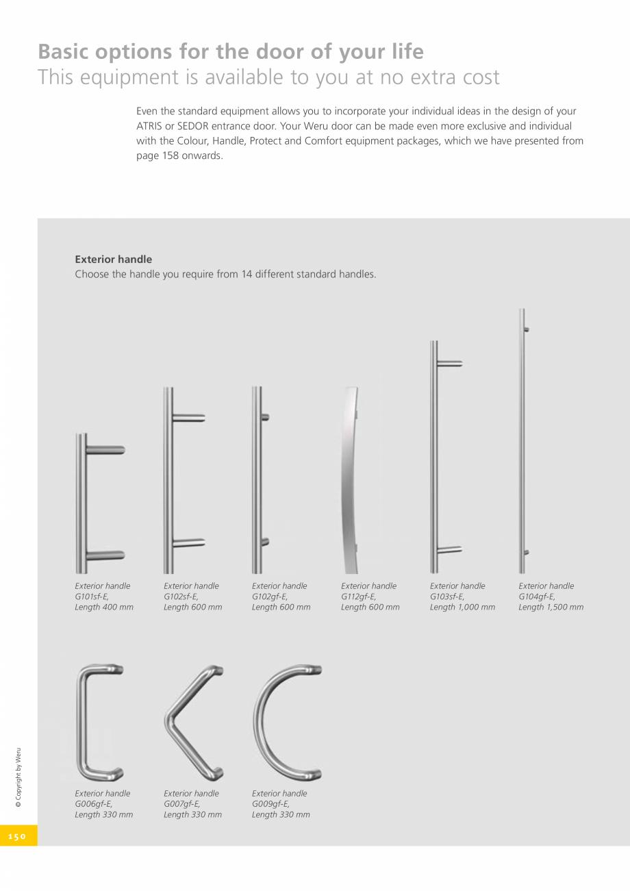 Pagina 150 - Catalog general - Usi de exterior din aluminiu WERU Catalog, brosura Engleza