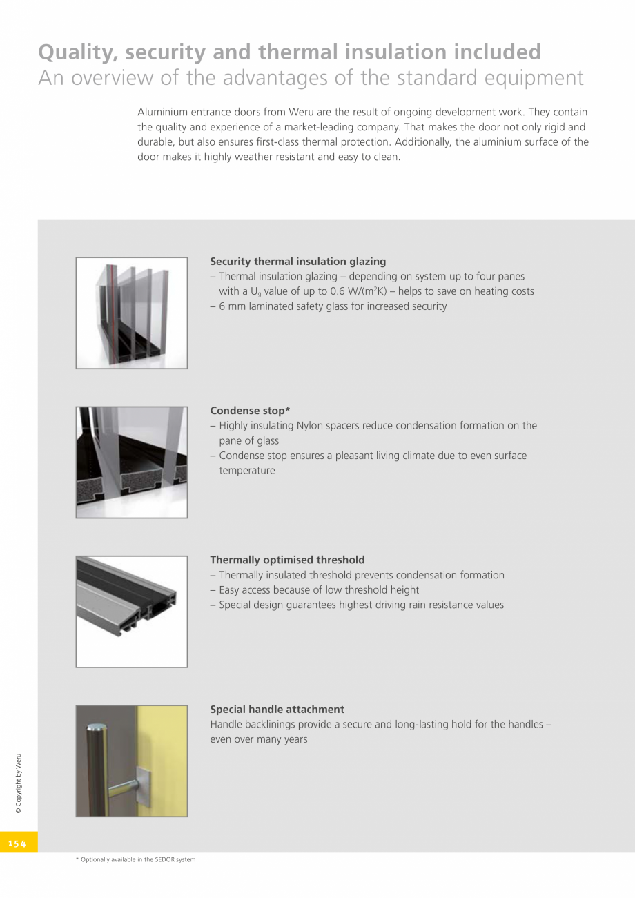 Pagina 154 - Catalog general - Usi de exterior din aluminiu WERU Catalog, brosura Engleza