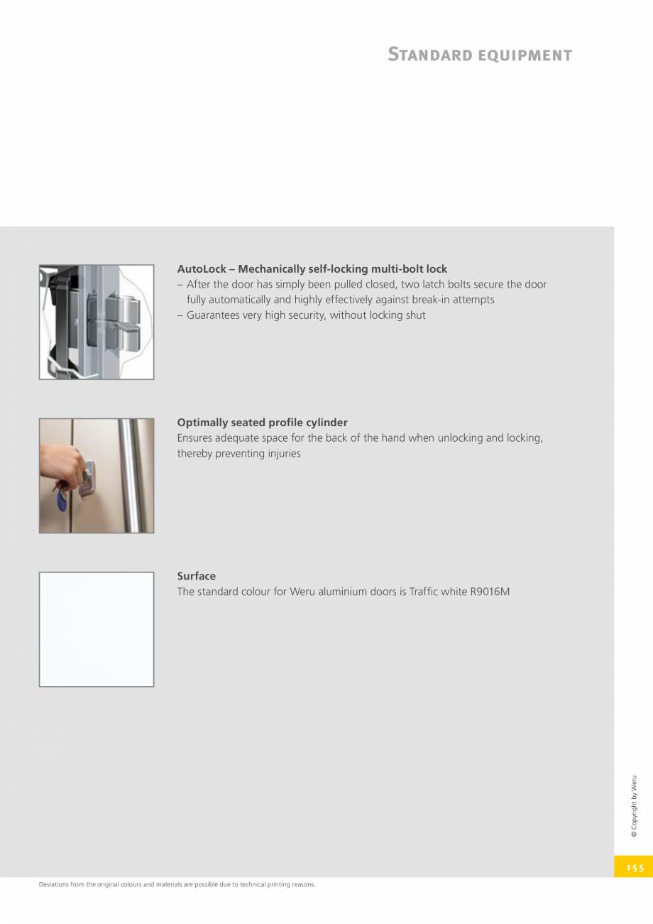 Pagina 155 - Catalog general - Usi de exterior din aluminiu WERU Catalog, brosura Engleza