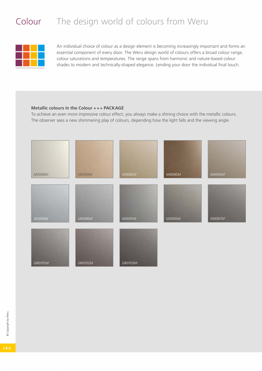 Pagina 160 - Catalog general - Usi de exterior din aluminiu WERU Catalog, brosura Engleza