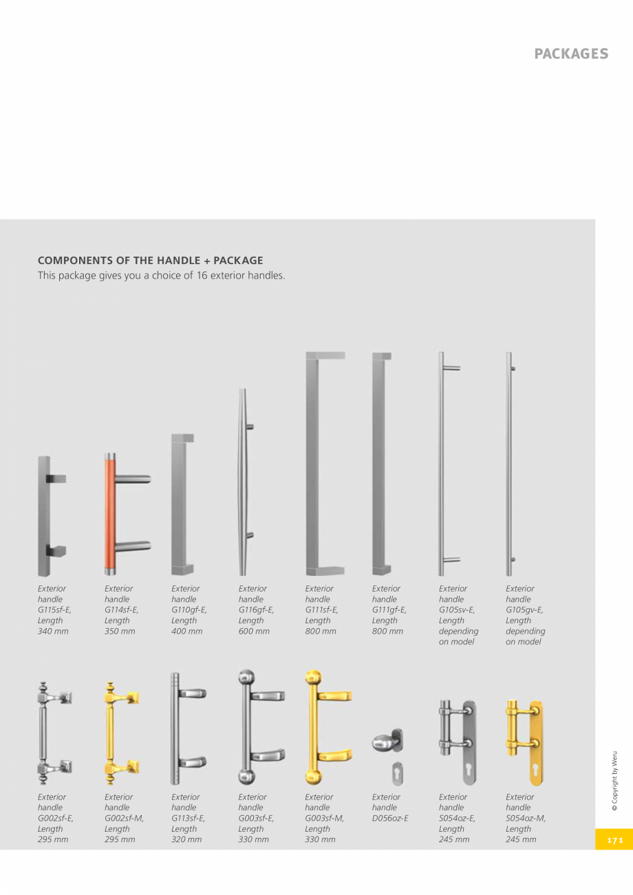 Pagina 171 - Catalog general - Usi de exterior din aluminiu WERU Catalog, brosura Engleza