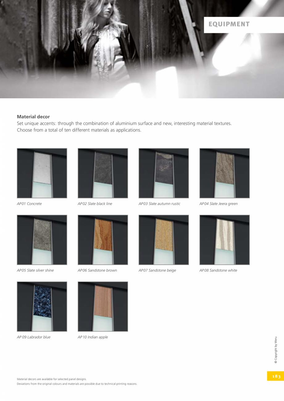 Pagina 183 - Catalog general - Usi de exterior din aluminiu WERU Catalog, brosura Engleza