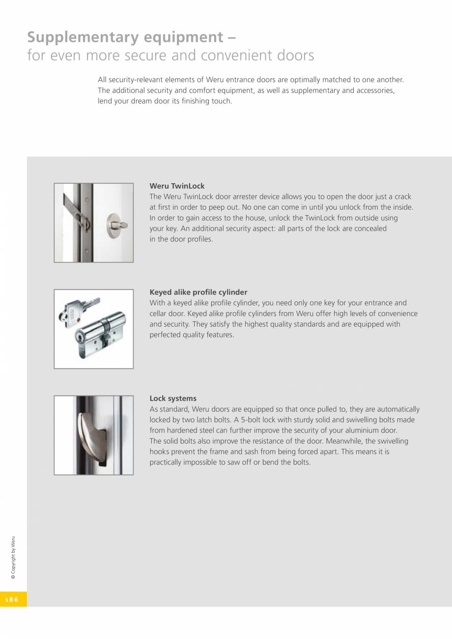Pagina 186 - Catalog general - Usi de exterior din aluminiu WERU Catalog, brosura Engleza