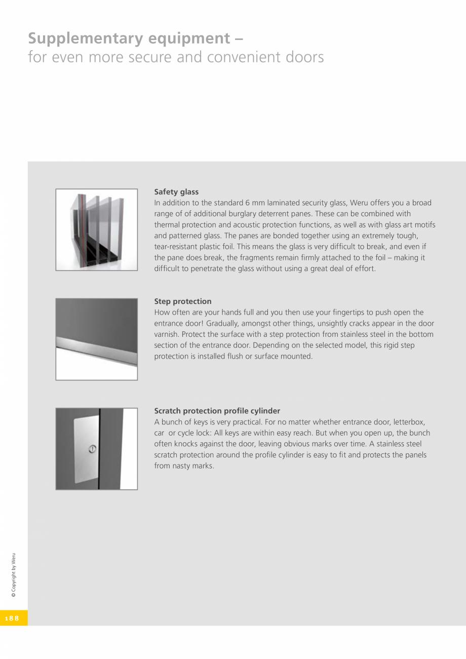 Pagina 188 - Catalog general - Usi de exterior din aluminiu WERU Catalog, brosura Engleza