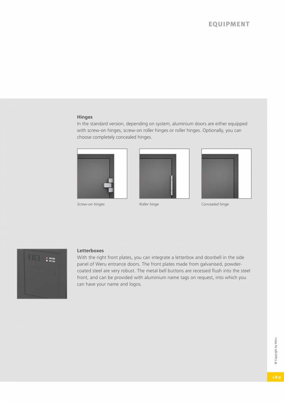 Pagina 189 - Catalog general - Usi de exterior din aluminiu WERU Catalog, brosura Engleza