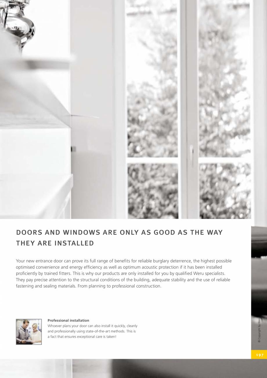 Pagina 197 - Catalog general - Usi de exterior din aluminiu WERU Catalog, brosura Engleza
