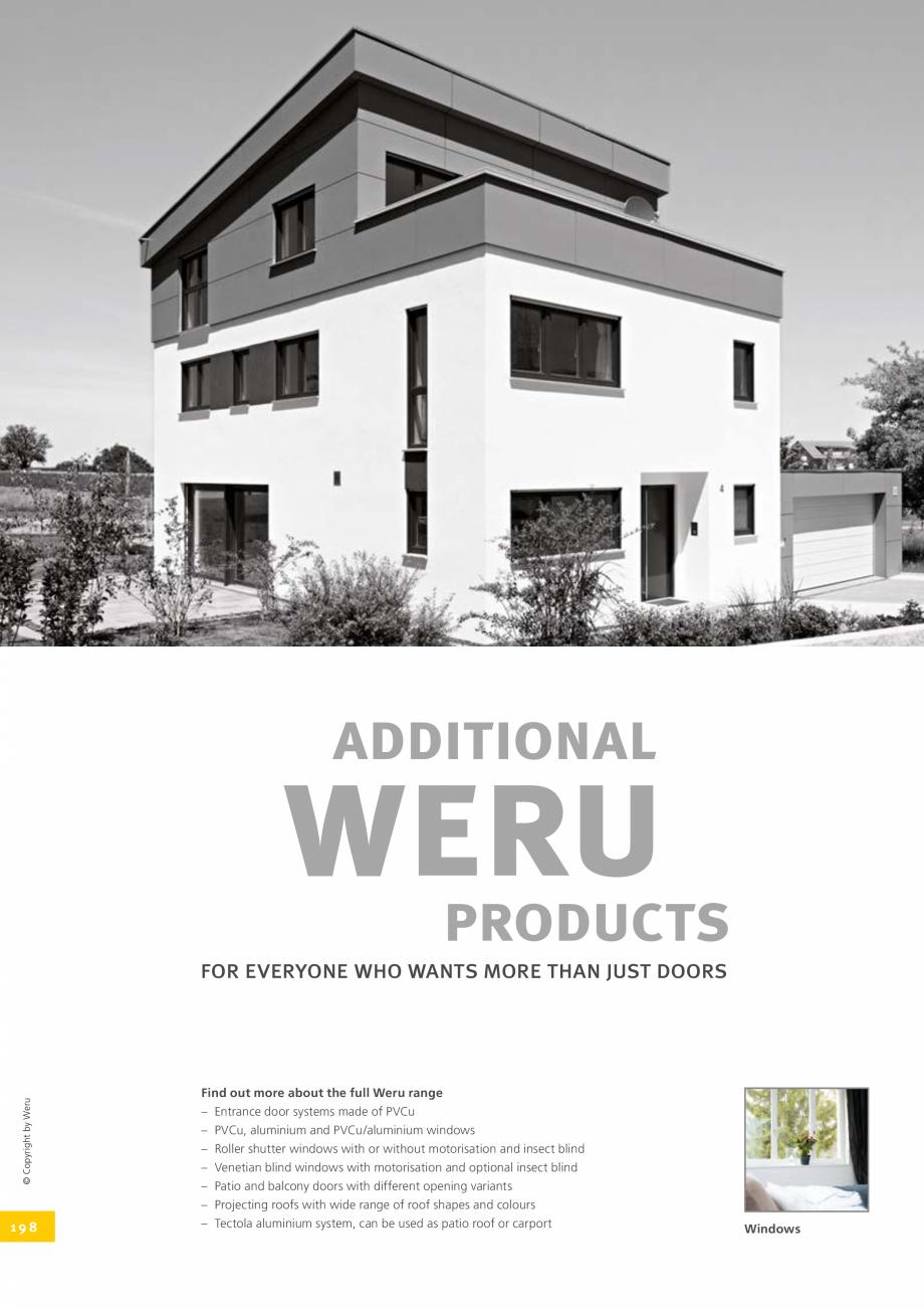 Pagina 198 - Catalog general - Usi de exterior din aluminiu WERU Catalog, brosura Engleza