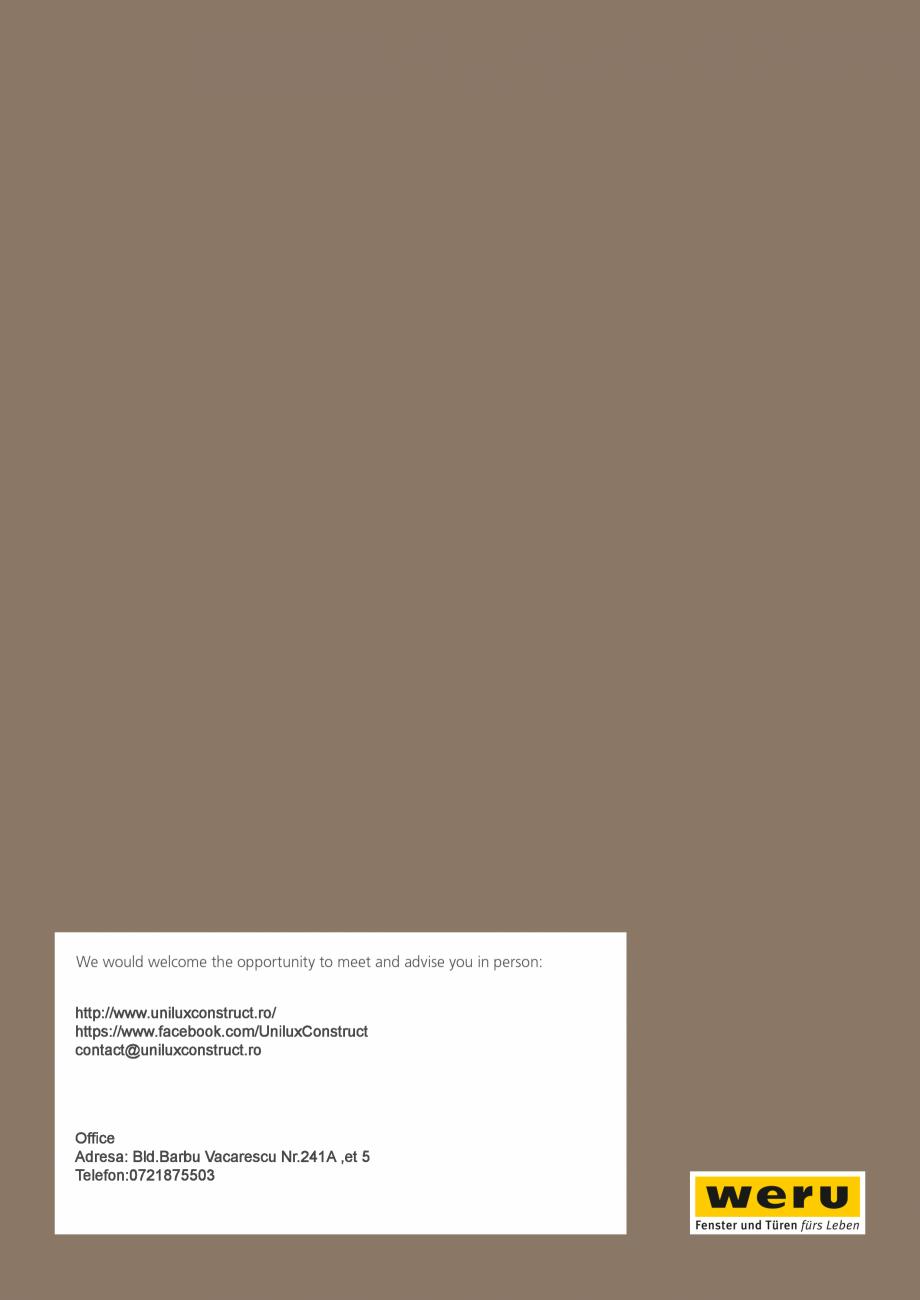 Pagina 200 - Catalog general - Usi de exterior din aluminiu WERU Catalog, brosura Engleza