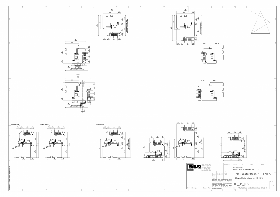 Pagina 1 - CAD-PDF Ferestre din lemn stratificat DK/DTS UNILUX Detaliu de montaj