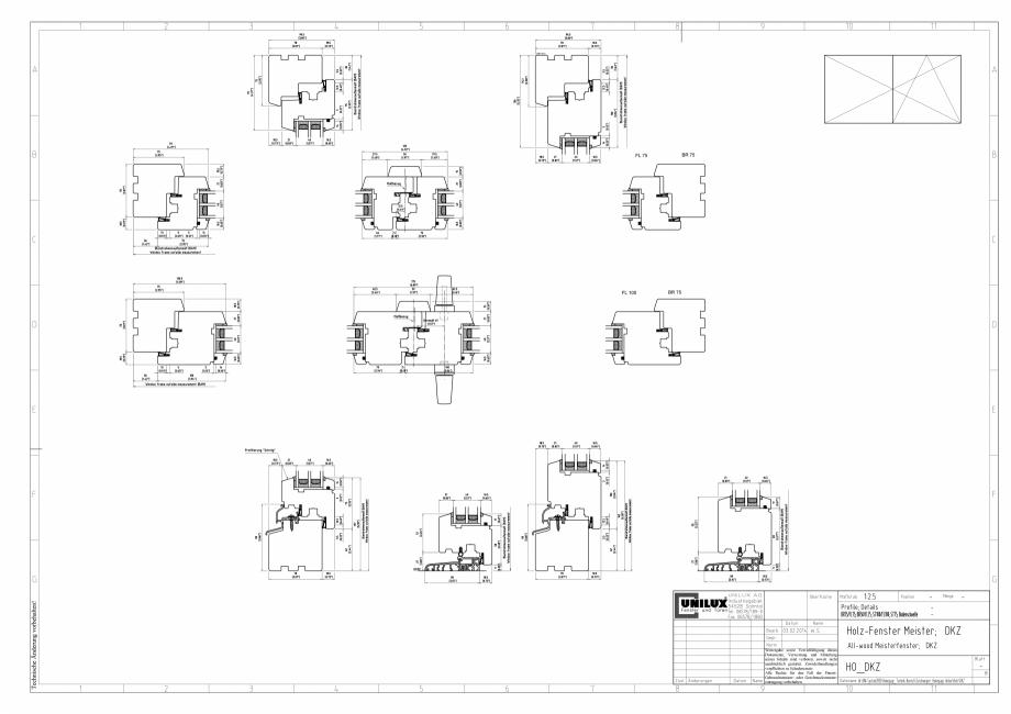 Pagina 1 - CAD-PDF Ferestre din lemn stratificat DKZ UNILUX Detaliu de montaj