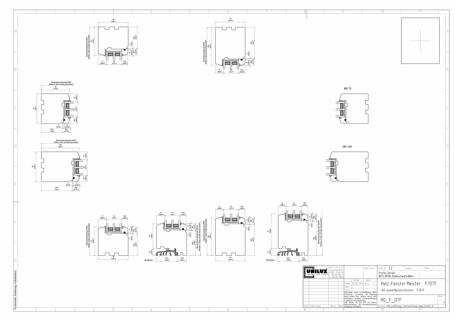 Pagina 1 - CAD-PDF Ferestre din lemn stratificat F/DTF UNILUX Detaliu de montaj