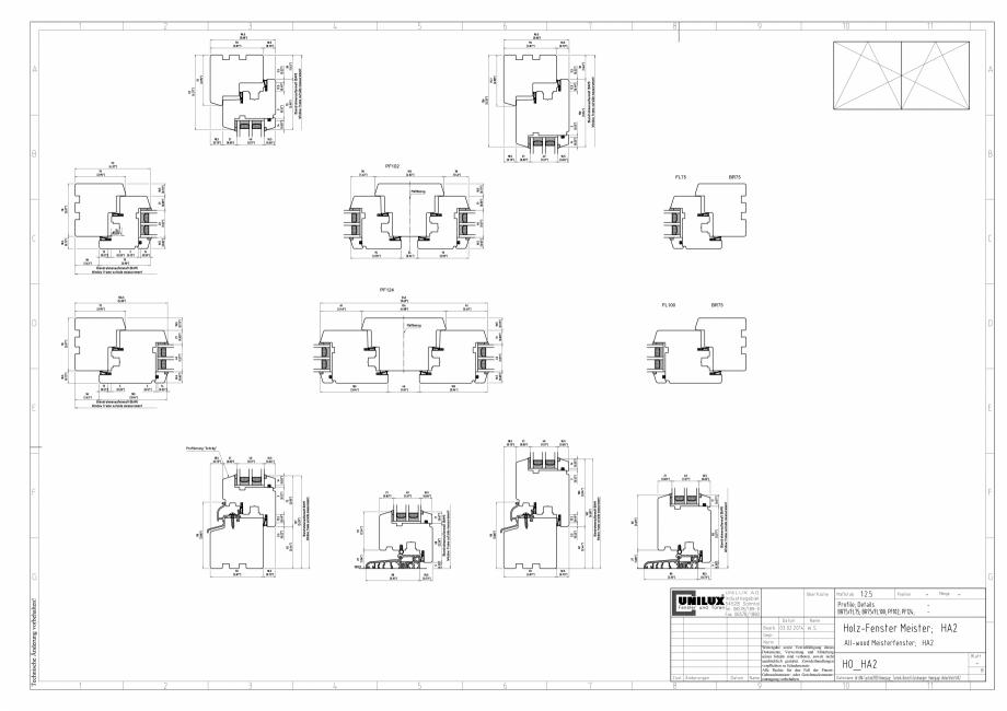Pagina 1 - CAD-PDF Ferestre din lemn stratificat HA2 UNILUX Detaliu de montaj