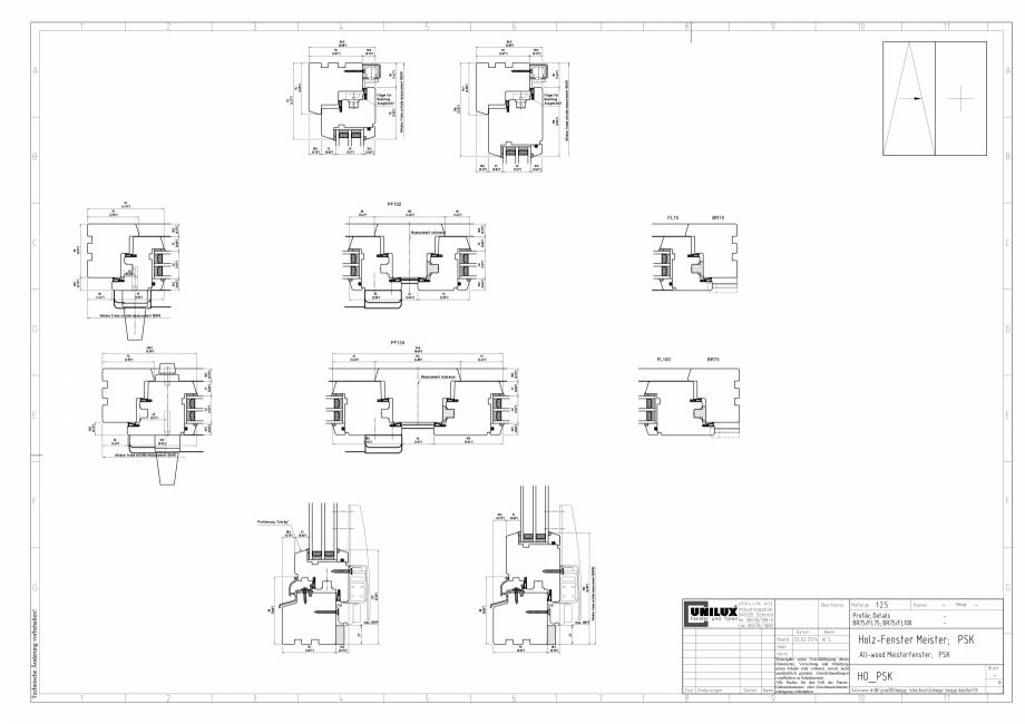 Pagina 1 - CAD-PNG Ferestre din lemn stratificat PSK UNILUX Detaliu de montaj