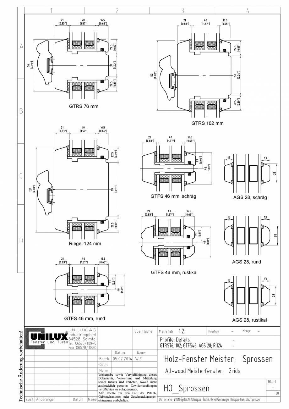 Pagina 1 - CAD-PDF Ferestre din lemn stratificat UNILUX Detaliu de montaj
