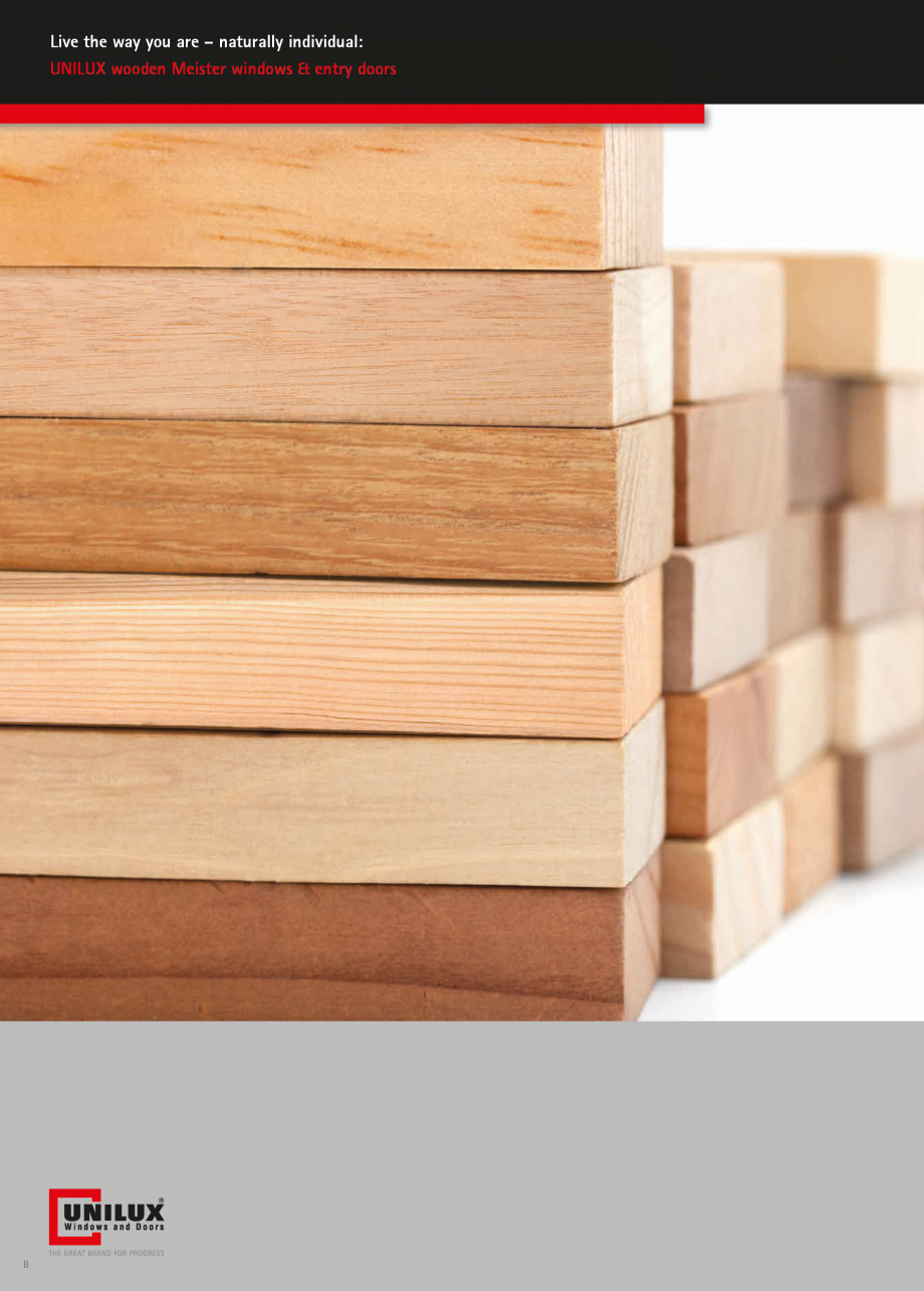 Pagina 8 - Ferestre din lemn stratificat UNILUX Catalog, brosura Engleza ckage) and EN-verified...