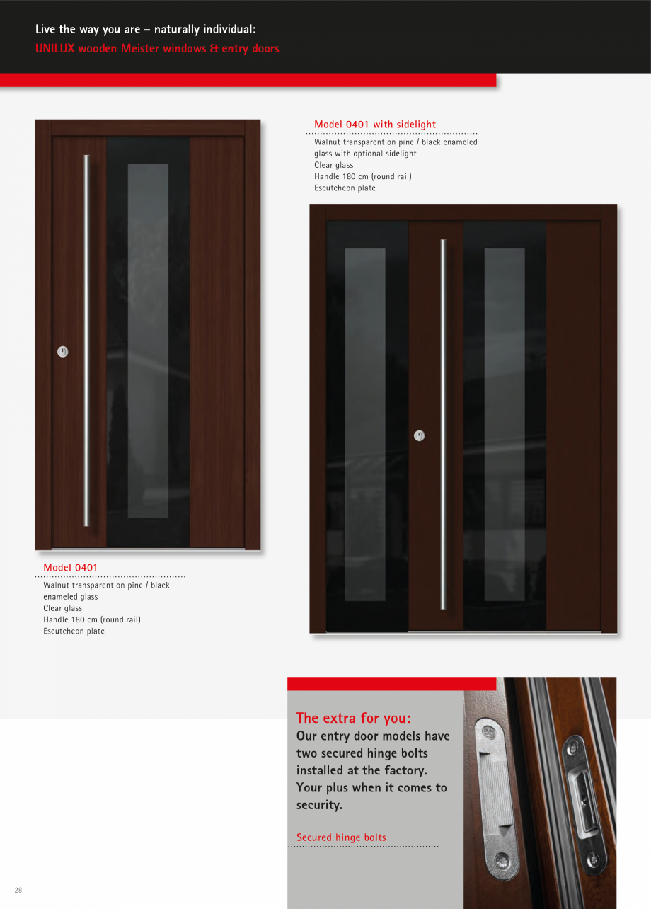 Pagina 27 - Ferestre din lemn stratificat UNILUX Catalog, brosura Engleza  114  Model 115  Vermilion...