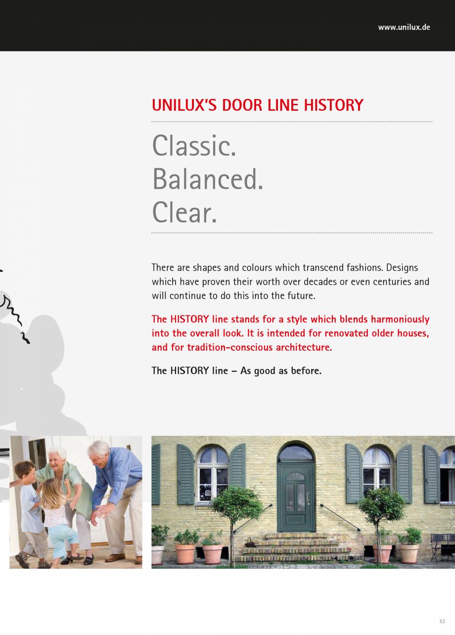 Catalog, brosura Usi de exterior UNILUX Usi de exterior din lemn-aluminiu UNILUX CONSTRUCT  - Pagina 53