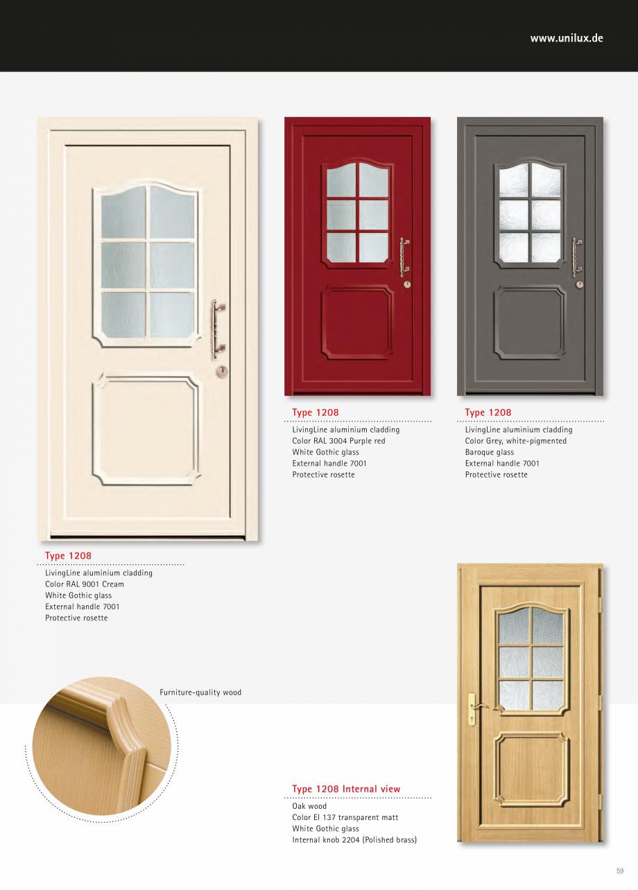 Catalog, brosura Usi de exterior UNILUX Usi de exterior din lemn-aluminiu UNILUX CONSTRUCT  - Pagina 59