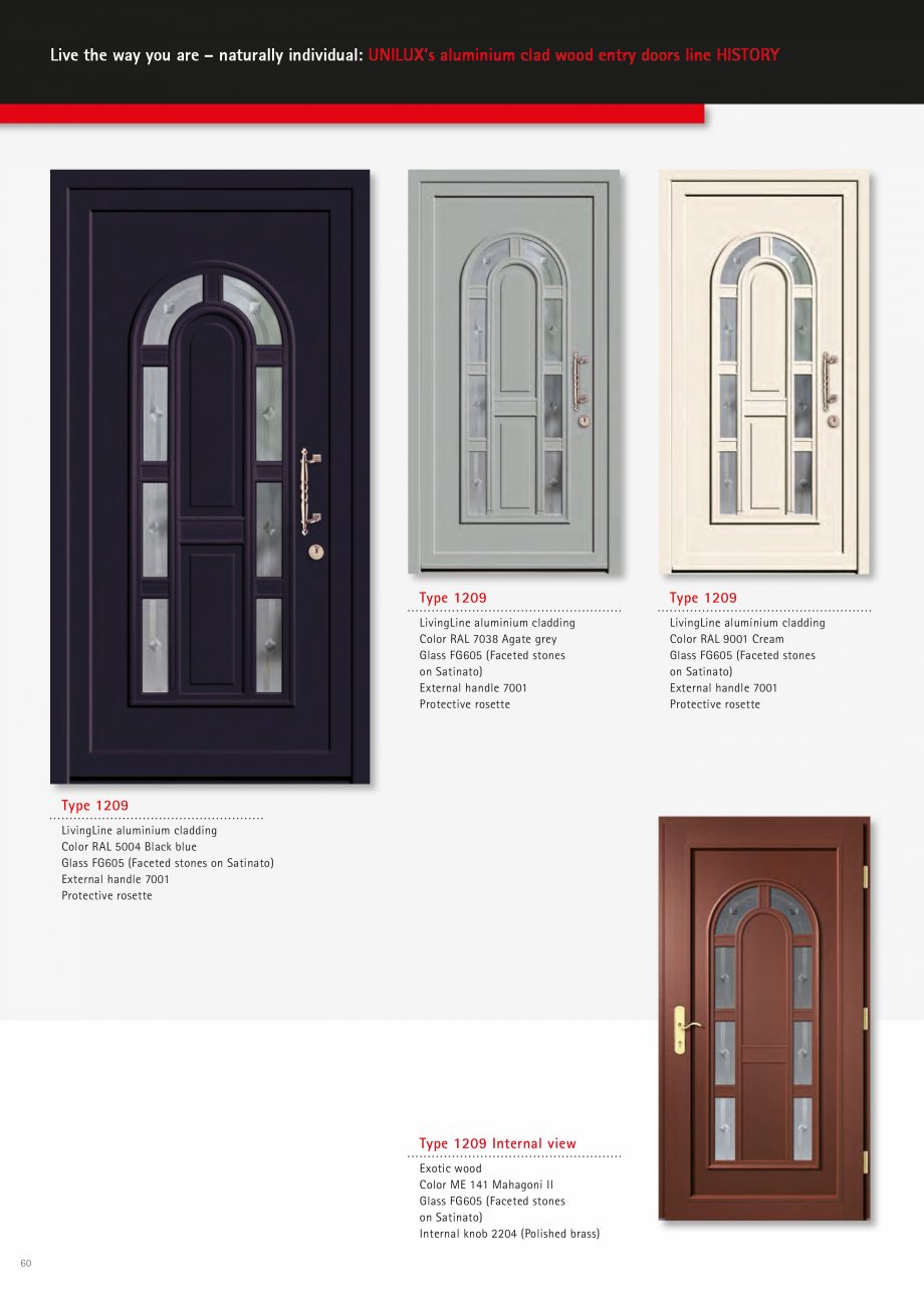 Catalog, brosura Usi de exterior UNILUX Usi de exterior din lemn-aluminiu UNILUX CONSTRUCT  - Pagina 60