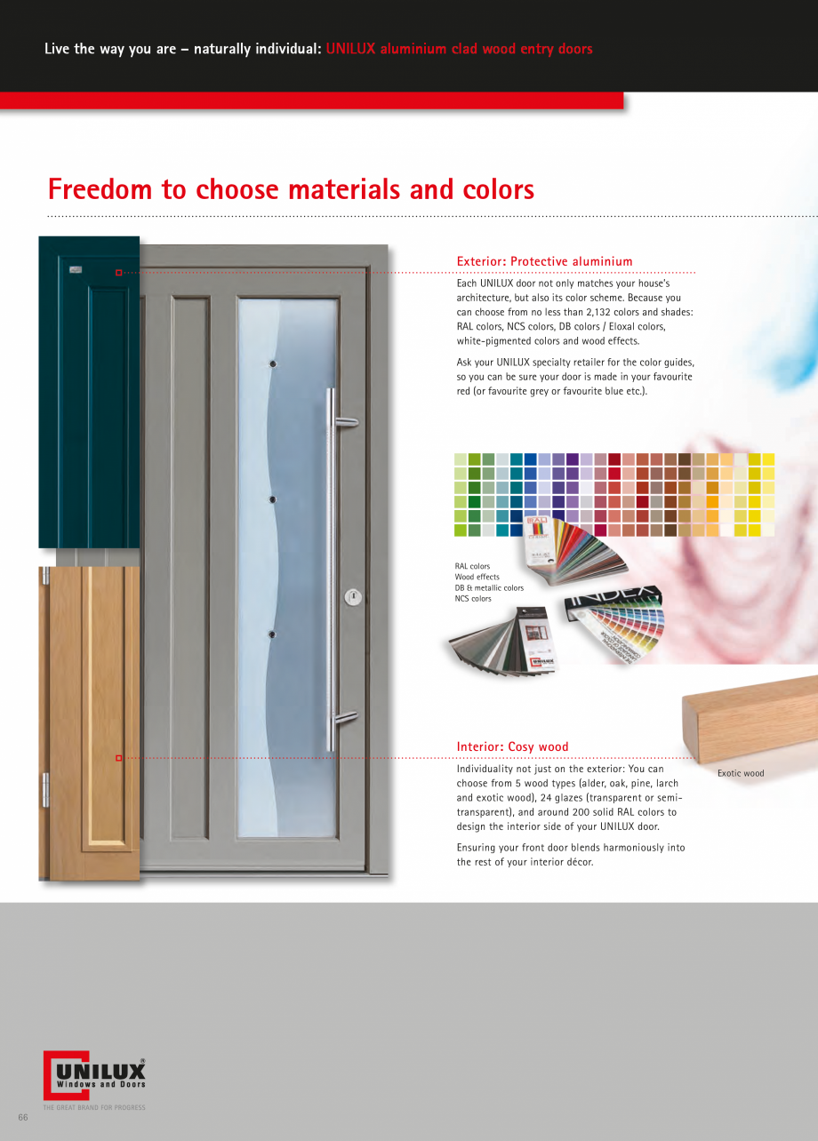 Catalog, brosura Usi de exterior UNILUX Usi de exterior din lemn-aluminiu UNILUX CONSTRUCT  - Pagina 66
