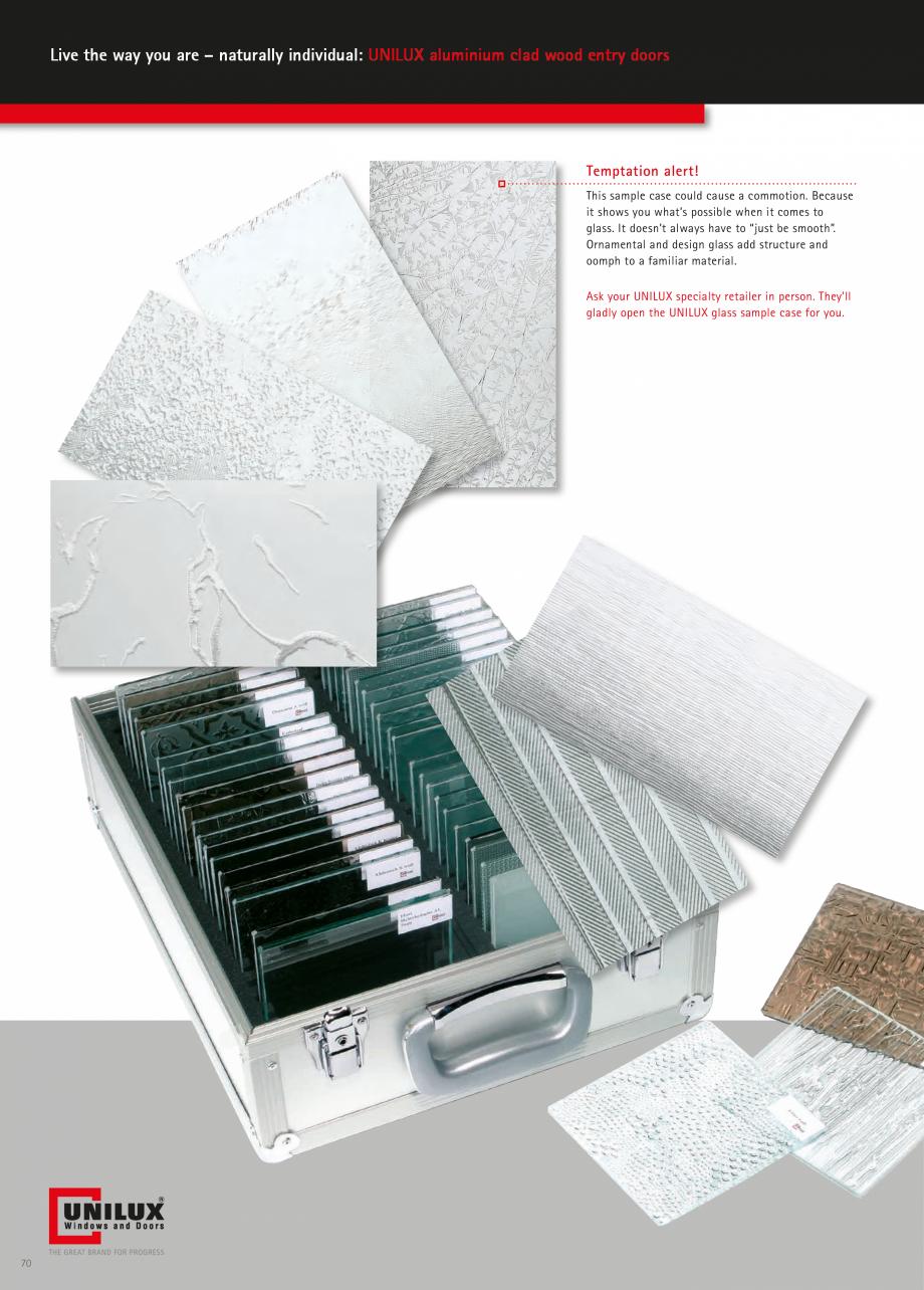 Catalog, brosura Usi de exterior UNILUX Usi de exterior din lemn-aluminiu UNILUX CONSTRUCT  - Pagina 70