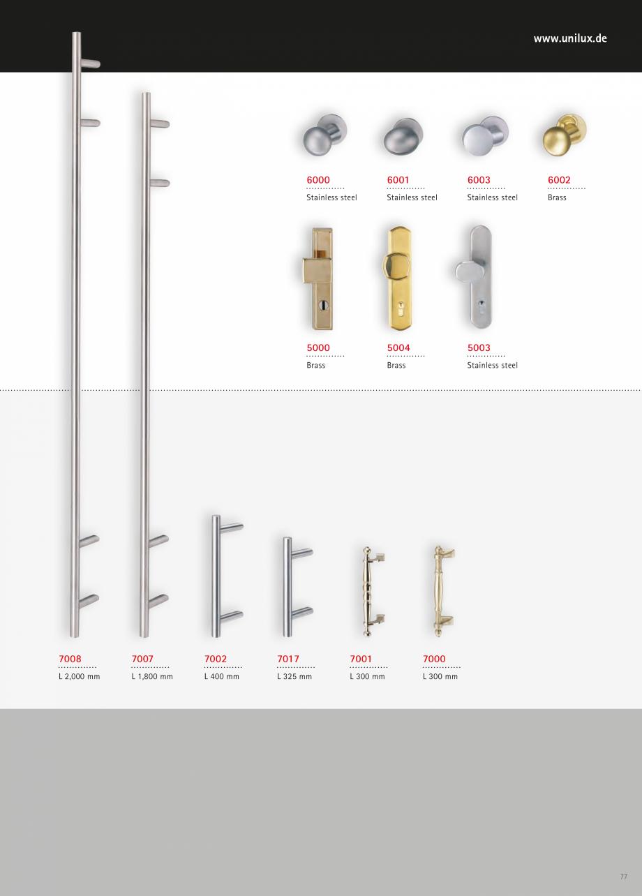 Catalog, brosura Usi de exterior UNILUX Usi de exterior din lemn-aluminiu UNILUX CONSTRUCT  - Pagina 77