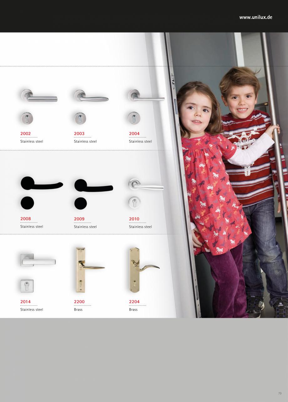 Catalog, brosura Usi de exterior UNILUX Usi de exterior din lemn-aluminiu UNILUX CONSTRUCT  - Pagina 79