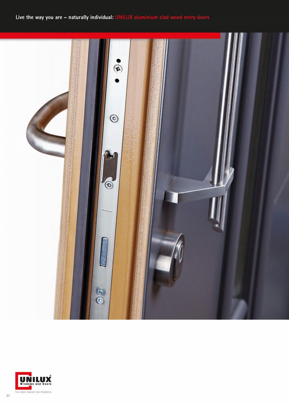 Catalog, brosura Usi de exterior UNILUX Usi de exterior din lemn-aluminiu UNILUX CONSTRUCT  - Pagina 80