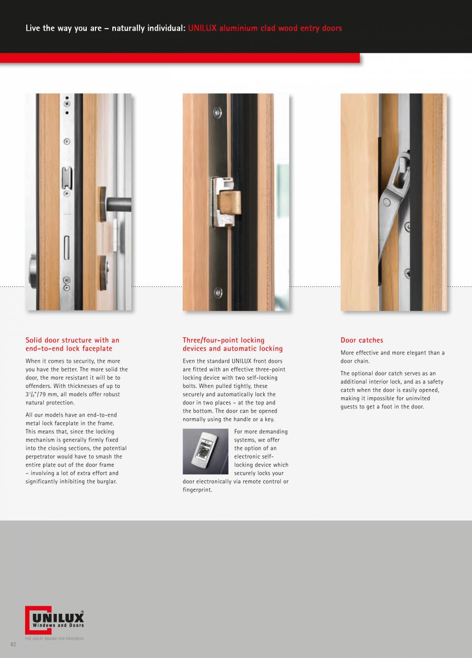 Catalog, brosura Usi de exterior UNILUX Usi de exterior din lemn-aluminiu UNILUX CONSTRUCT  - Pagina 82