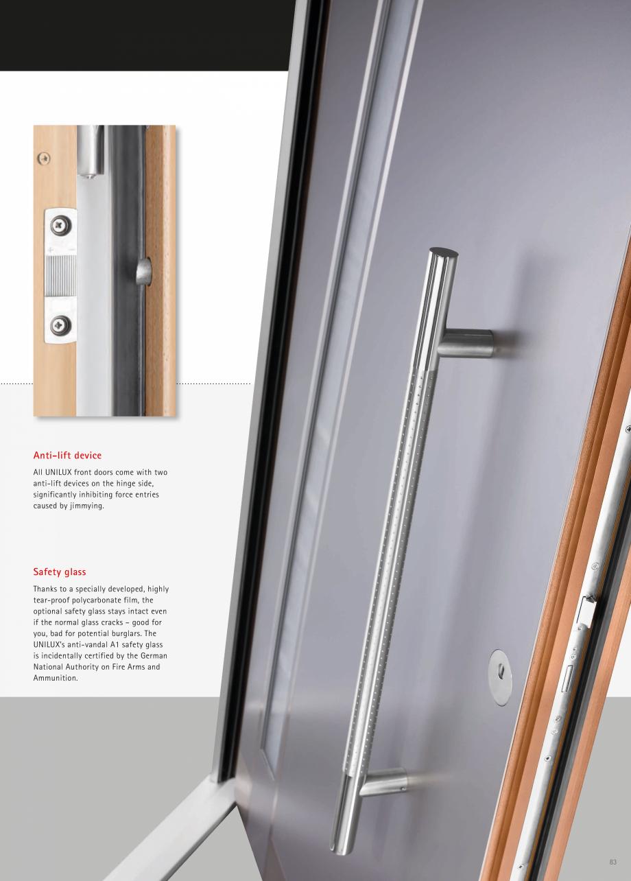 Catalog, brosura Usi de exterior UNILUX Usi de exterior din lemn-aluminiu UNILUX CONSTRUCT  - Pagina 83