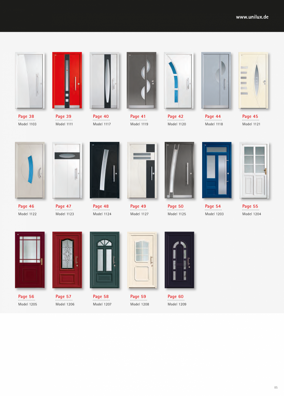 Catalog, brosura Usi de exterior UNILUX Usi de exterior din lemn-aluminiu UNILUX CONSTRUCT  - Pagina 85