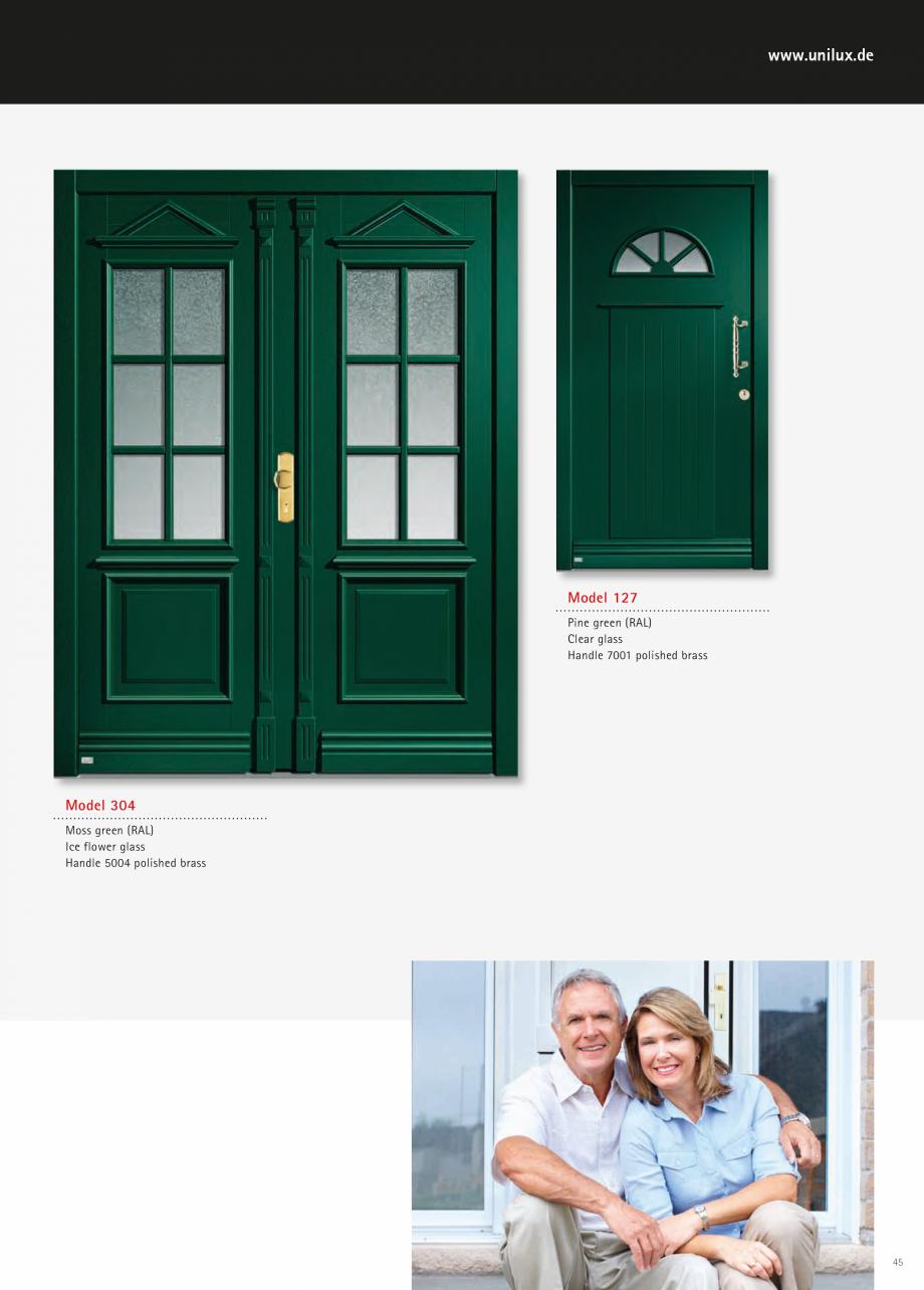Catalog, brosura Usi de exterior UNILUX Usi de exterior din lemn-aluminiu UNILUX CONSTRUCT  - Pagina 45