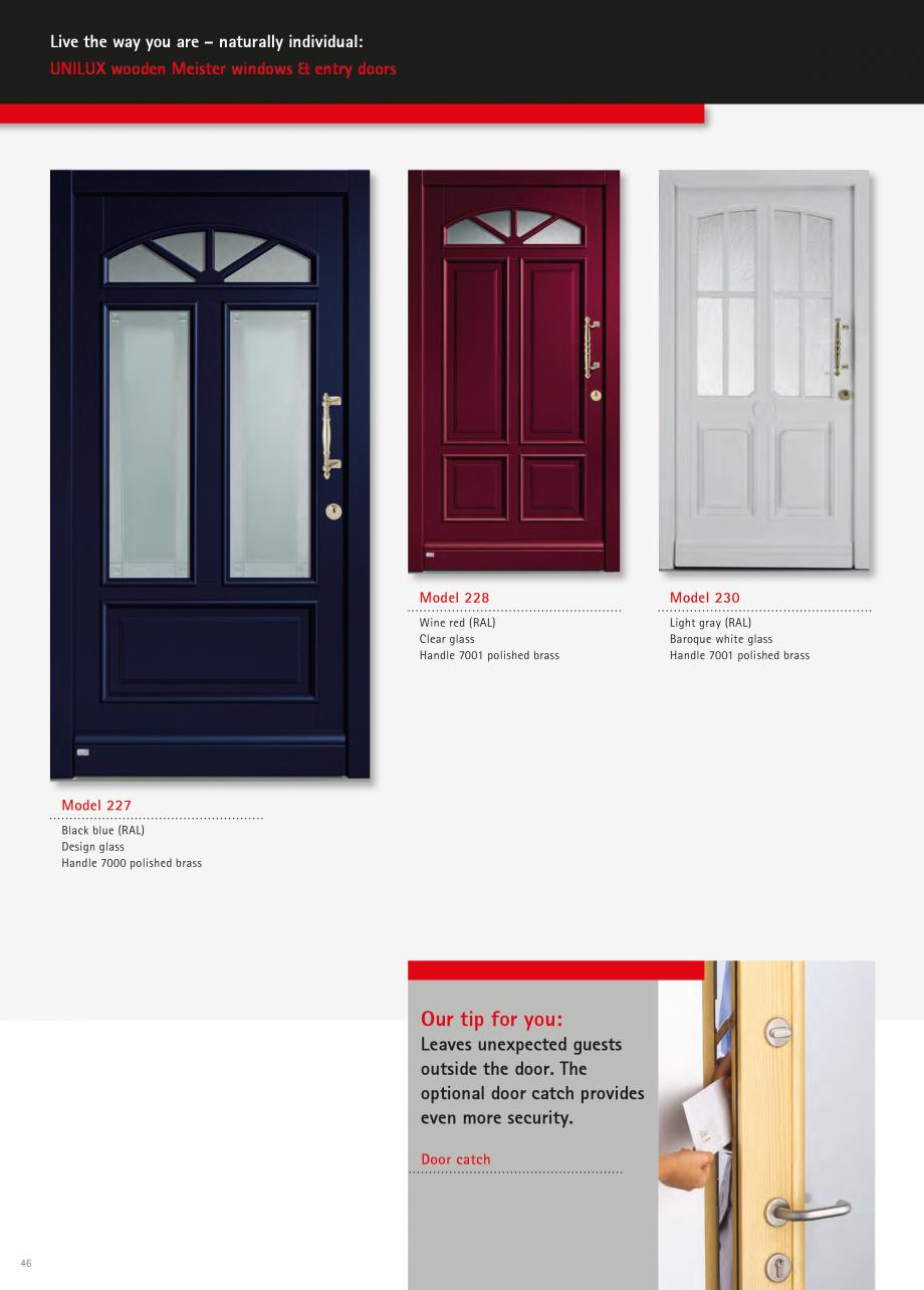 Catalog, brosura Usi de exterior UNILUX Usi de exterior din lemn-aluminiu UNILUX CONSTRUCT  - Pagina 46