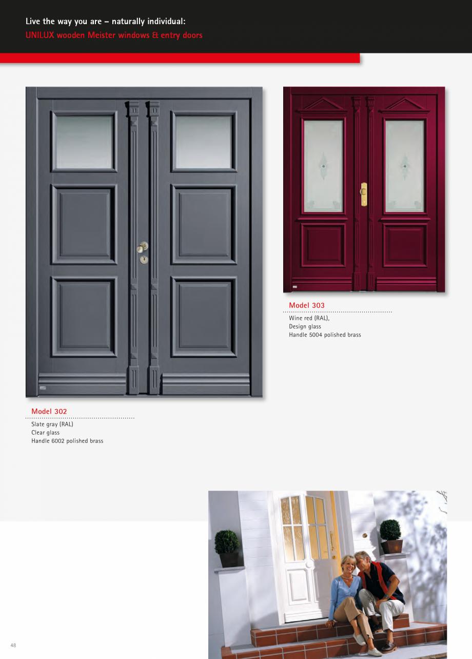 Catalog, brosura Usi de exterior UNILUX Usi de exterior din lemn-aluminiu UNILUX CONSTRUCT  - Pagina 48
