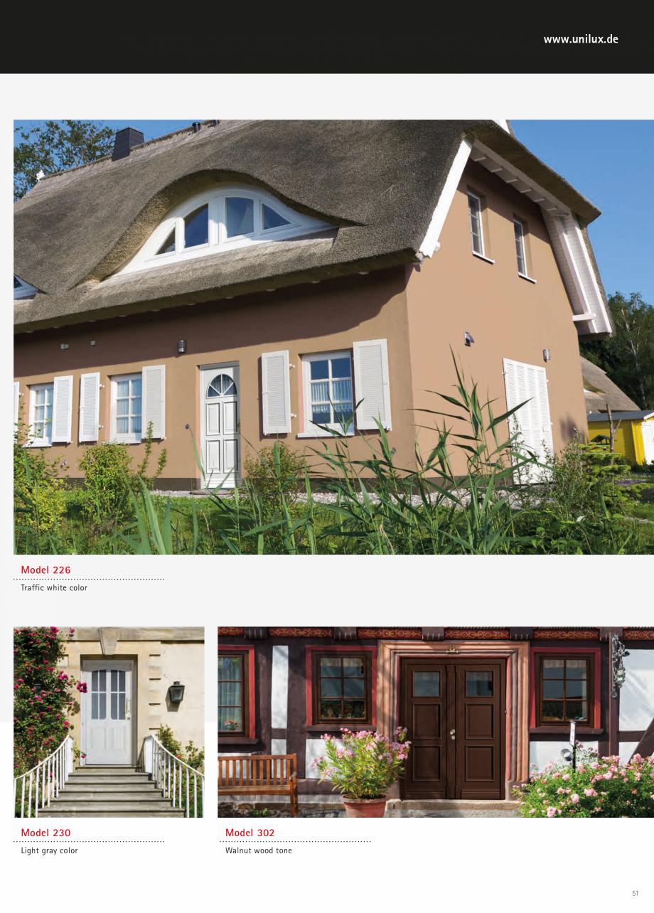 Catalog, brosura Usi de exterior UNILUX Usi de exterior din lemn-aluminiu UNILUX CONSTRUCT  - Pagina 51