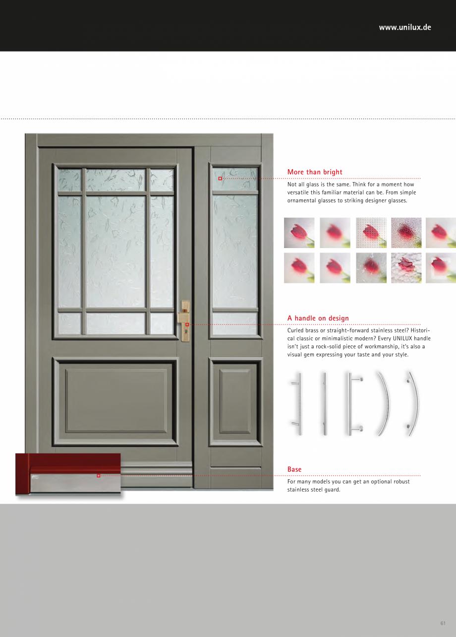Catalog, brosura Usi de exterior UNILUX Usi de exterior din lemn-aluminiu UNILUX CONSTRUCT  - Pagina 61