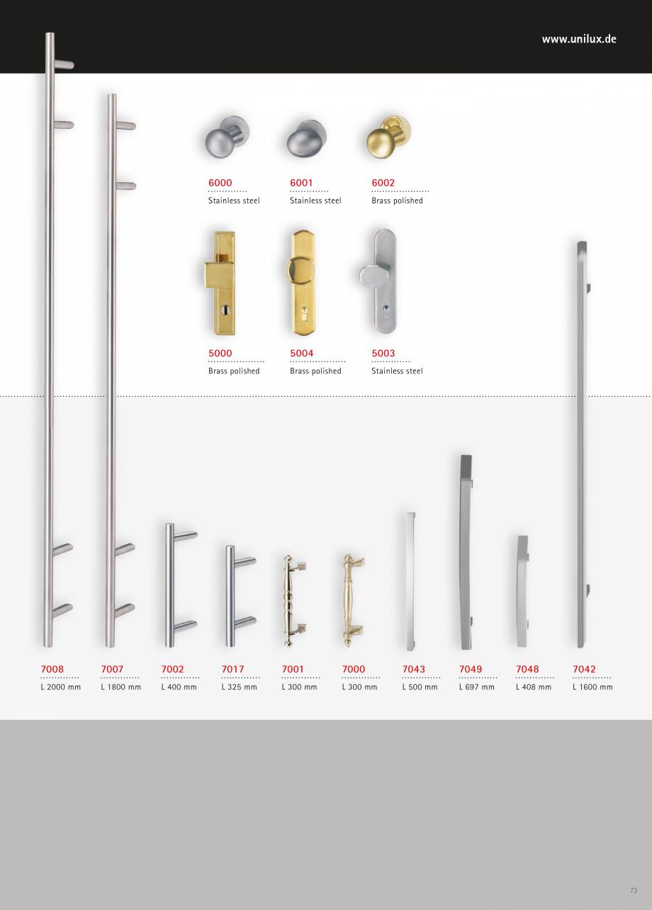 Catalog, brosura Usi de exterior UNILUX Usi de exterior din lemn-aluminiu UNILUX CONSTRUCT  - Pagina 73