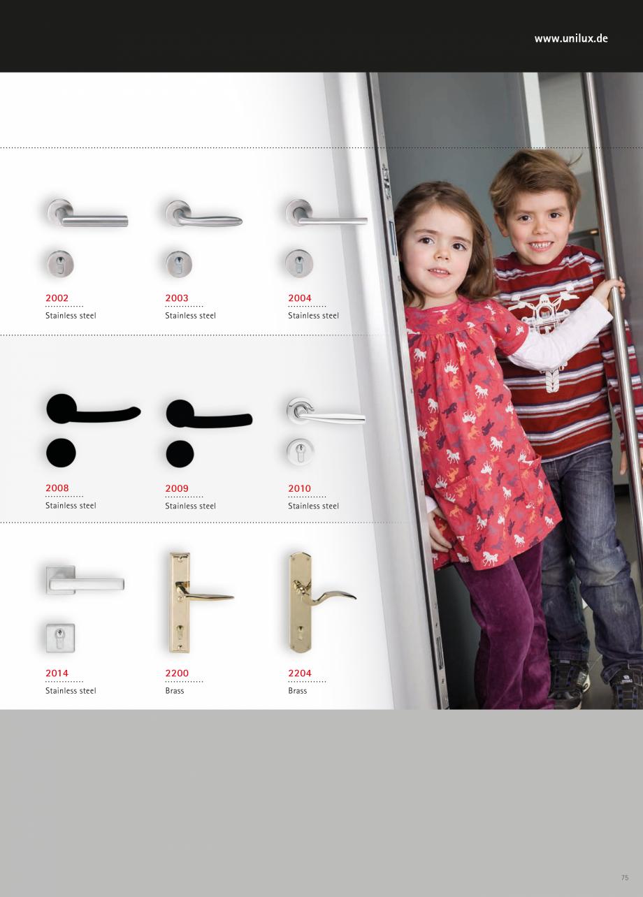 Catalog, brosura Usi de exterior UNILUX Usi de exterior din lemn-aluminiu UNILUX CONSTRUCT  - Pagina 75