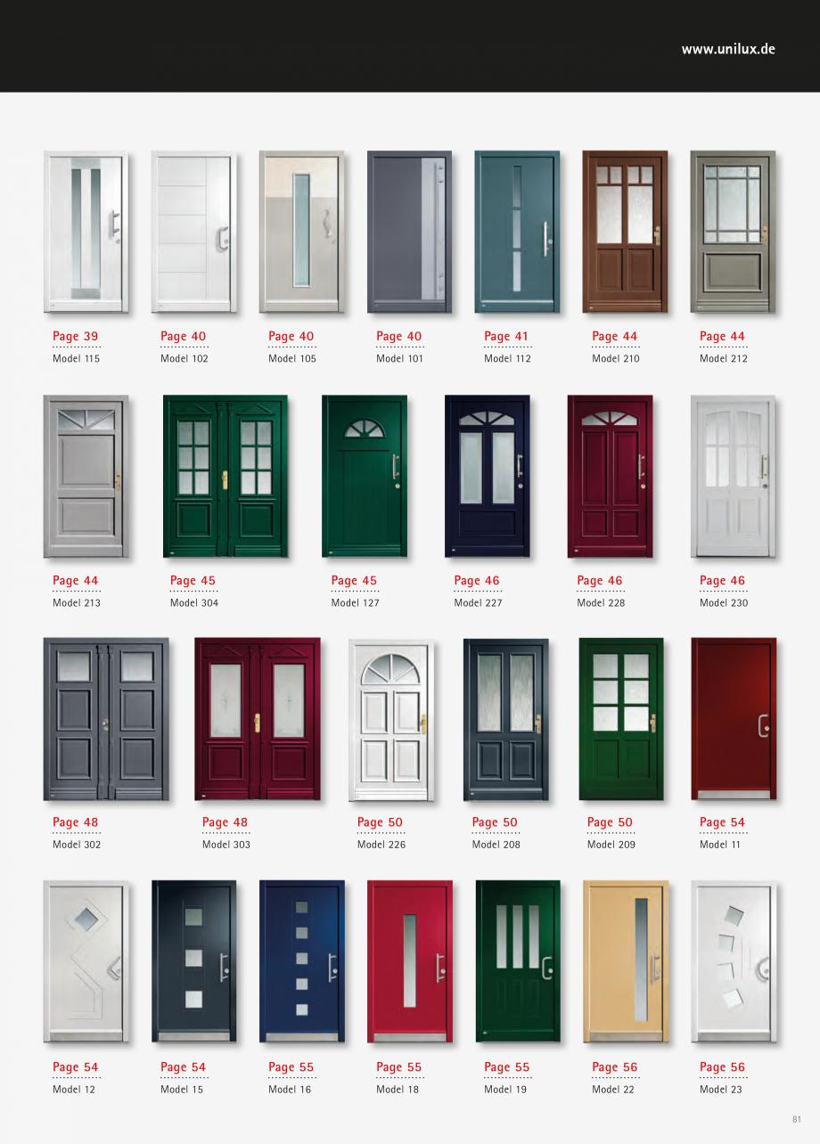 Catalog, brosura Usi de exterior UNILUX Usi de exterior din lemn-aluminiu UNILUX CONSTRUCT  - Pagina 81