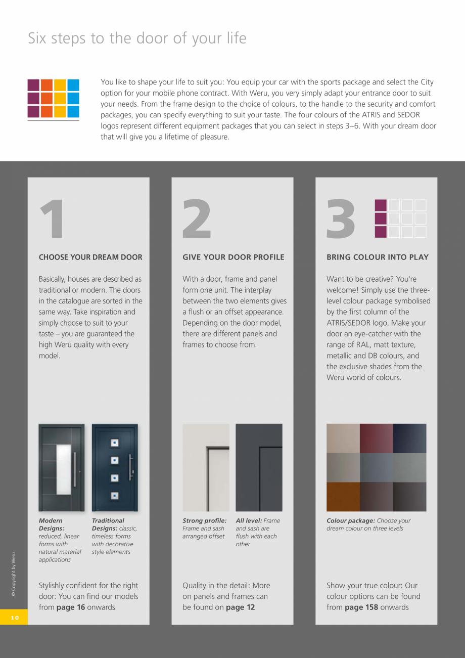 Pagina 10 - Usi de exterior din lemn-aluminiu UNILUX Catalog, brosura Engleza on the inside. The...